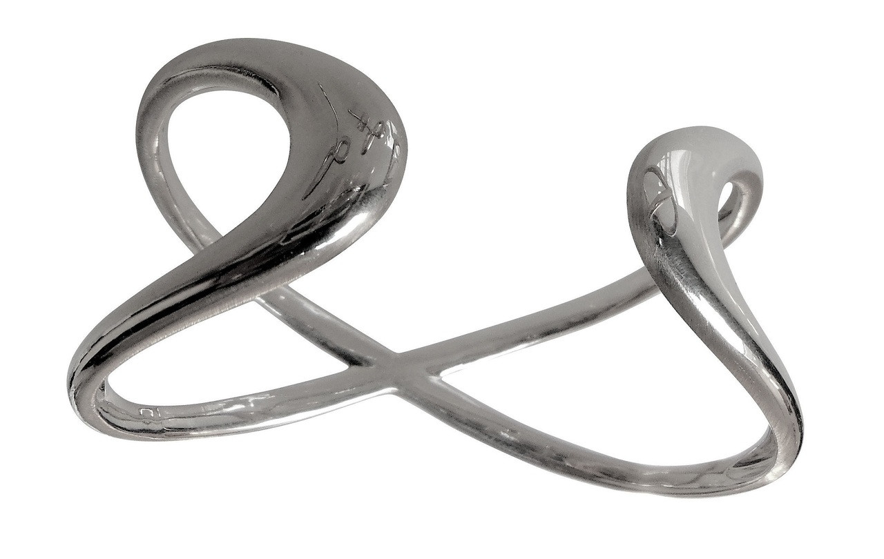 Infinity Cuff Bracelet- Sterling Silver, with 18K gold or rhodium plate