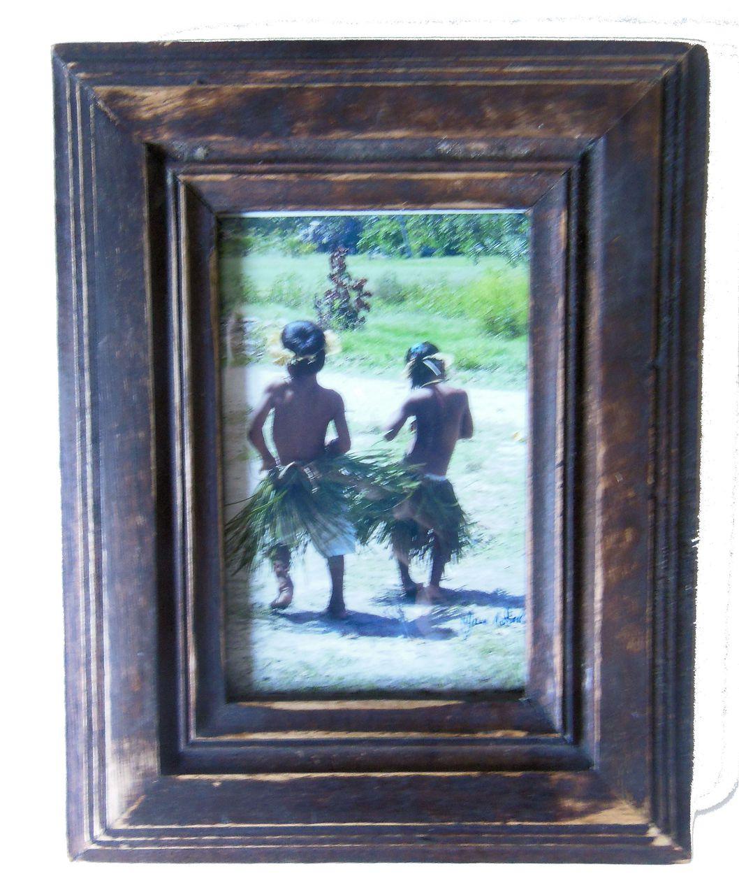 Little Dancers.  Fanning Island framed and signed photo.