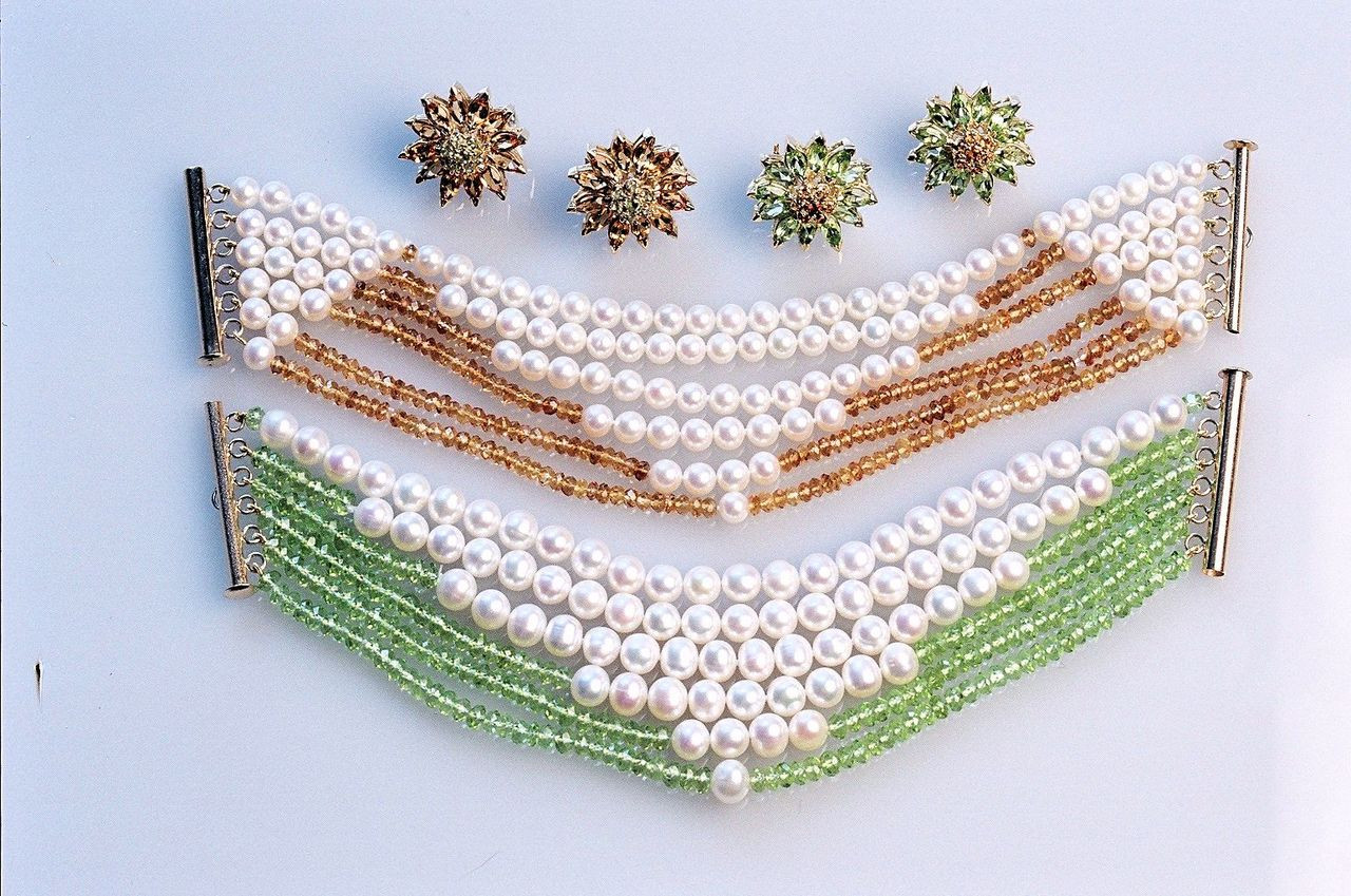 Multi strand pearl and gemstone bracelets- made to order.