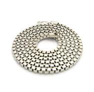 Mens Hip Hop Box Link Chain Necklace Silver