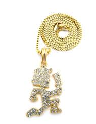 ICP Inspired Hatchetman Hip Hop Pendant Box Chain Gold