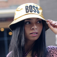Ladies Celebrity Style Fishermans Bucket Style BOSS Hat Gold