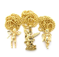 Small Cherub Archangel Triple Pendant Chain Necklace Set