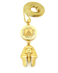 Egyptian King Tut Egyptian Pyramid Hip Hop Chain Neckalce
