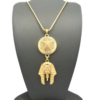 Egyptian King Tut Egyptian Pyramid Hip Hop Chain Neckalce