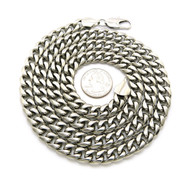 "10mm 36"" Stainless Steel Miami Cuban Link Chain Necklace"