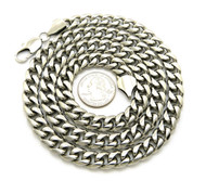 "10mm 30"" Hip Hop Stainless Steel Miami Cuban Link Chain"