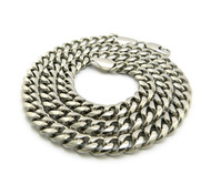 Mens Stainless Steel Miami Cuban Link Chain Necklace 8mm 24""