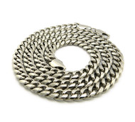 Men's Stainless Steel Miami Cuban Link Chain Necklace 8mm 30""