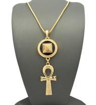 Egyptian Pyramid Ankh Cross Hip Hop Pendant Chain Necklace