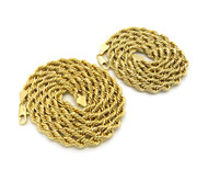 "14k Gold Hip Hop 6mm 24"" & 30 Rope Chain Necklaces"