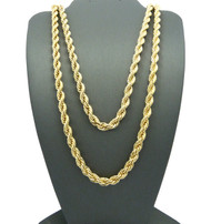 """14k Gold Hip Hop 6mm 24"""" & 30 Rope Chain Necklaces"""