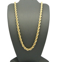Men's Gold 6mm 30 Inch Rope Hip Hop Chain Necklace