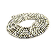 "Mens 3mm 30"" Diamond Cut Cuban Link Chain Necklace Silver"