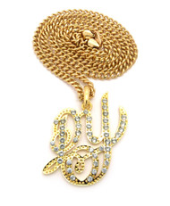 Daddy Yankee Gold Iced Out Pendant w/ Miami Cuban Link Chain