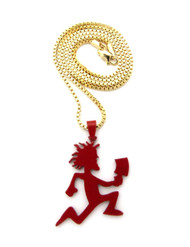 Red ICP Hip Hop Pendant w Box Link Chain