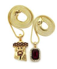 14k Onyx Shield Micro Small Jesus Chain Diamond Cz Pendant