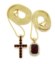Onyx Shield Micro Small Cross Iced Out Pendant