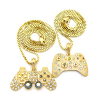 XBox 360 Playstation Joystick Controller Pendant Chain Set Gold