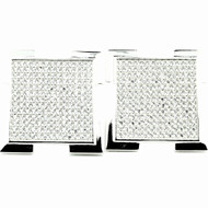 Mens 21mm Sterling Silver Big Boy Pave Set Bling Bling Earrings
