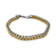 Mens Chain Link 316L SS Gentleman's Two Toned Bracelet