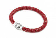 Grown Man Stingray High Fashion Hip Hop Bracelet Red
