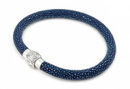Grown Man Stingray High Fashion Hip Hop Bracelet Dark Blue