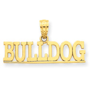 Mens 14k Yellow Gold Simple Bulldog Bling Jewelz Pendant