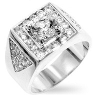 Iced Out Brilliant Men's Diamond Cz Bling Ring