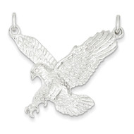 Mens Bling Jewelz 925 Sterling Silver Flying Bald Eagle Pendant