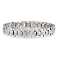 Mens Stainless Steel Hip Hop Watch Band Link Bracelet
