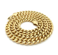 Men's Hip Hop 10mm Classic Cuban Link Chain Necklace Gold
