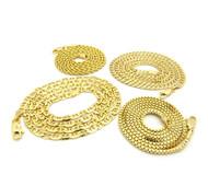 Hip Hop Rope Cuban Box & G-Link Chains Necklace Set