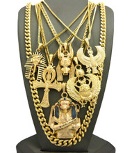 Kings Of Egypt Horus Bird King Tut Ultra Baller Pendant Chain Set