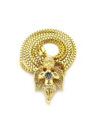 Radiant Diamond Cz Angel Cherub Pendant Chain 14k Gold