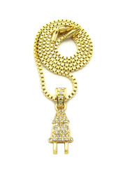 Hip Hop Bling Electric Energy Power Plug Pendant