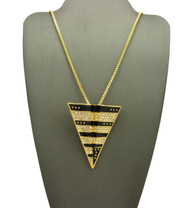 14k Gold Jay Z Inspired Paper Planes Pendant w / Box Chain Necklace