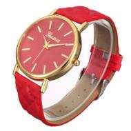 Casual Geneva Roman Leather Band Analog Quartz Wrist Watch