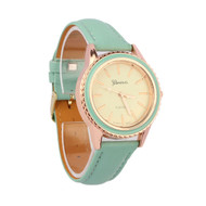 Fashion Vogue Women's Geneva PU Leather Analog Wrist Watch