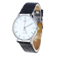 Men's Classic Luxury Style Roman Numeral Leather Watch