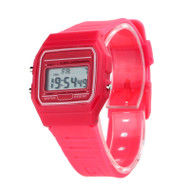 80's Retro Fashion Vintage Digital Wristwatch Red