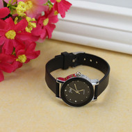 Fashion Ladies Leather High-Quality Dail Quartz Watch Black