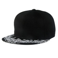 Black Paisley Snapback Hip Hop D-Boy Hat