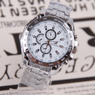 Mens Forever Classic Bling Luxury Stainless Steel Watch