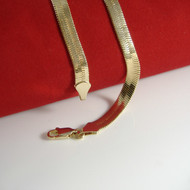 4mm 24 Inch Gold Herringbone Link Hip Hop Chain Necklace