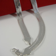 9mm 30 Inch Sterling Silver Herringbone Link Chain Necklace