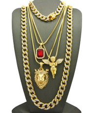 God Of Salvation Cuban Link Chain Bracelet Ultra Baller Hip Hop Chain