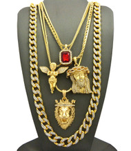 14k Gold God Of Mercy Ultra Baller Hip Hop Pendant Chain