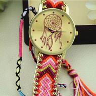 Dreamcatcher Friendship Bracelet Watches Women Braid Dress Watches Hot+PK