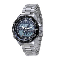 Double Movement 316L Stainless Steel High Fashion Mens Watch